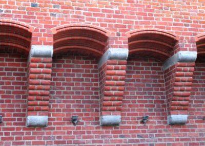 Fragment ściany wschodniej Baszty Gdańskiej (Szewskiej)